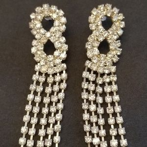 Vintage Evening Dangle Costume Earrings